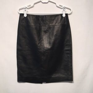 Gorgeous Super Soft Black Lambskin Leather Skirt